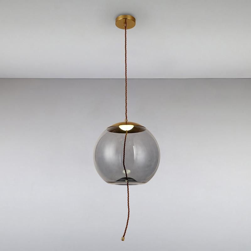 Люстра подвесная на одну лампу LS-814864-1LED 4W BL черная