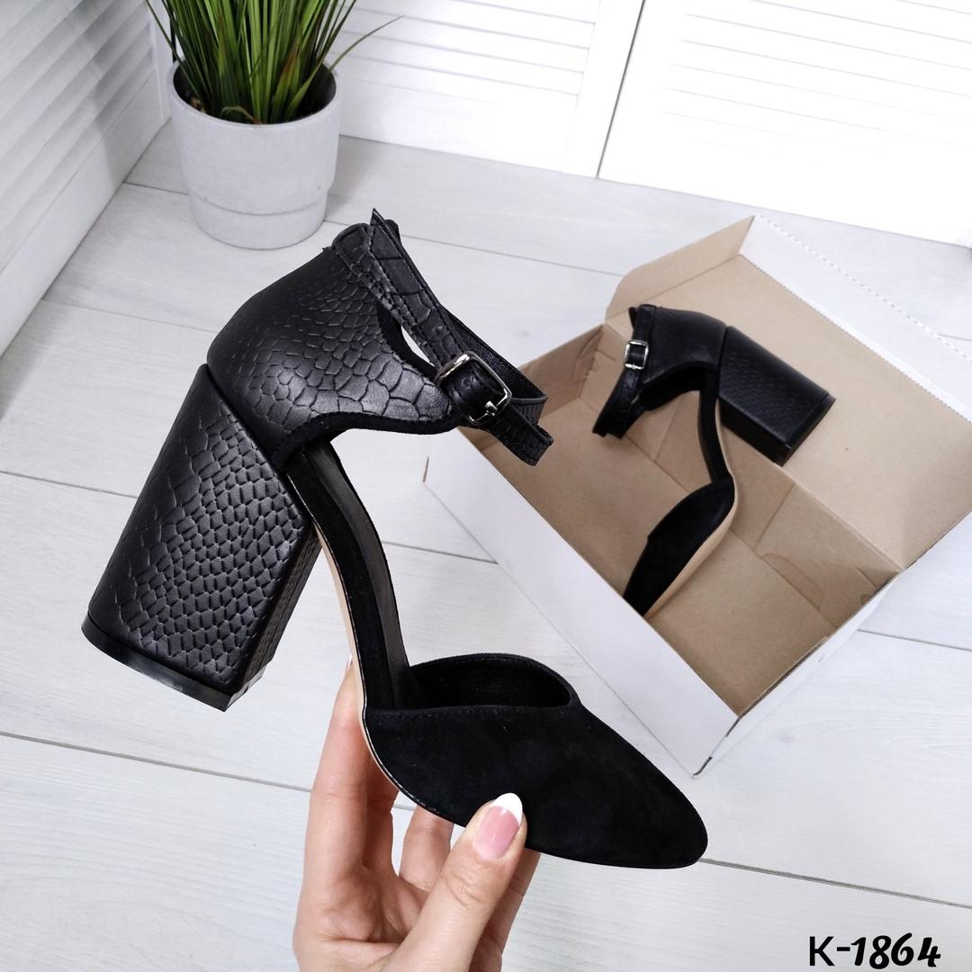 Туфли из натуральной кожи черные
