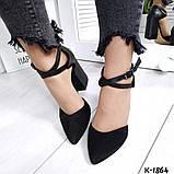 Туфли из натуральной кожи черные, фото 3