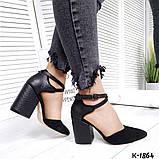 Туфли из натуральной кожи черные, фото 4