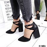Туфли из натуральной кожи черные, фото 5