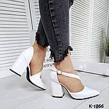 Туфли из натуральной кожи белые, фото 3