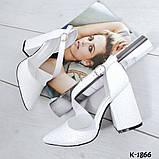 Туфли из натуральной кожи белые, фото 2