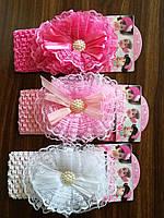 """Нарядная повязка для девочки """"Бантик"""", фото 1"""