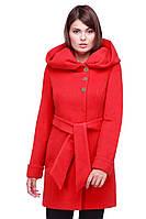 Эффектное женское пальто демисезонное с капюшоном под пояс материал кашемир разные расцветки