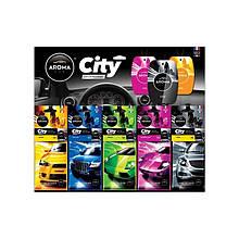 Ароматизатор Aroma Car City микс дисплей 30 шт CC30