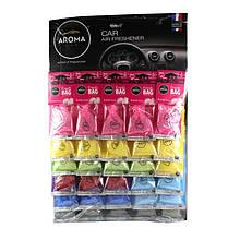 Ароматизатор Aroma Car Fresh Bag микс дисплей (30шт)