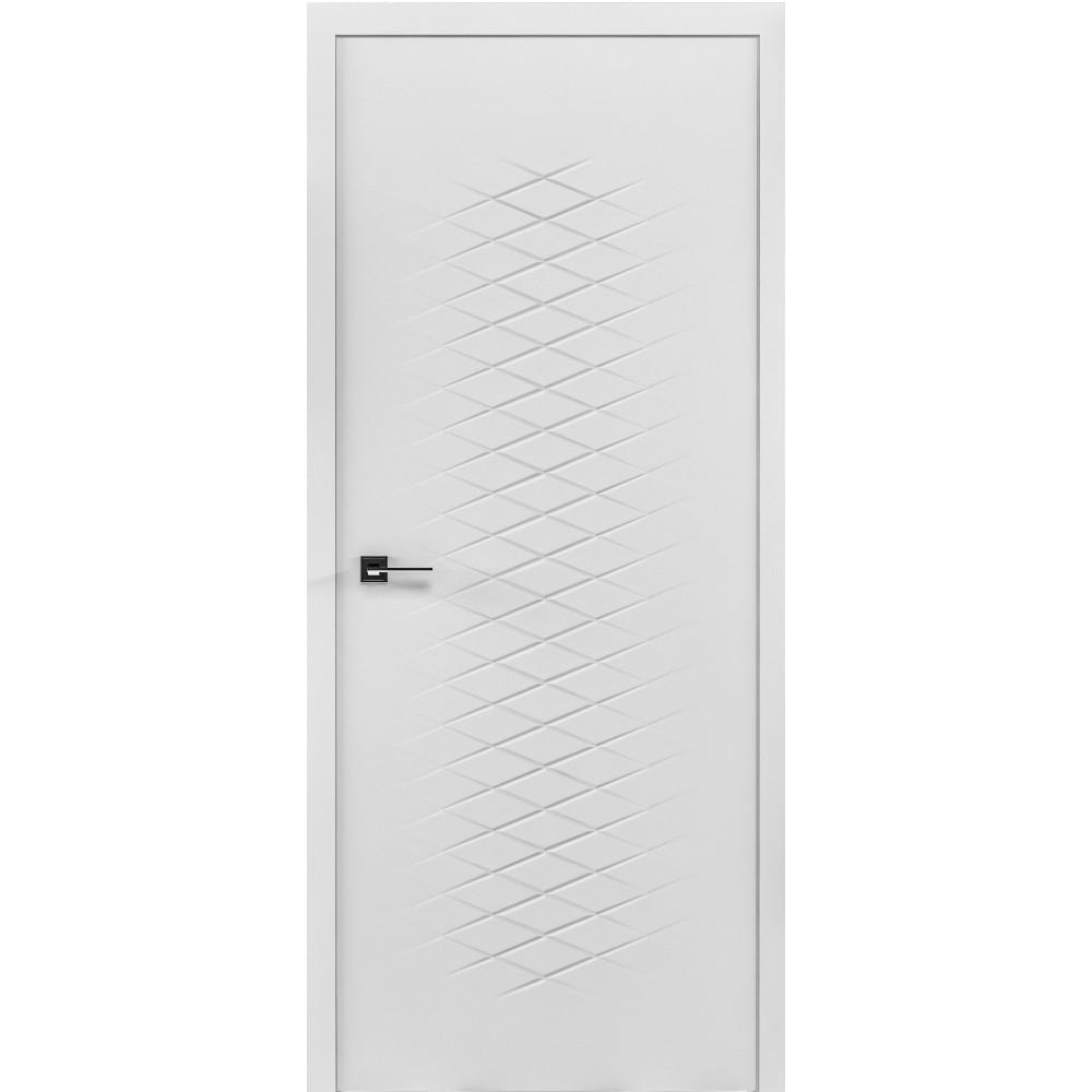 Двери ROMA - полотно+коробка+2 к-та наличников+добор 77мм, крашенные белый мат, серия CORTES