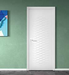 Двери ROMA - полотно+коробка+2 к-та наличников+добор 77мм, крашенные белый мат, серия CORTES, фото 2
