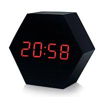 Настольные сетевые часы VST-876-1 красная подсветка, фото 1