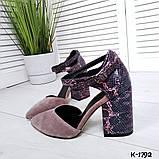 Туфли из натуральной кожи мокко, фото 2