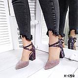 Туфли из натуральной кожи мокко, фото 4