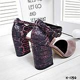 Туфли из натуральной кожи мокко, фото 5