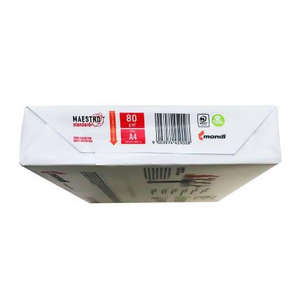 Папір для лазерного друку Maestro Standard+ А4, 80г/м2, 500арк. клас B, фото 2