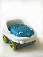 """Детский музыкальный горшок Irak Plastik """"Baby car"""", бело-голубой"""