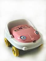 """Дитячий музичний горщик Irak Plastik """"Baby car"""", біло-рожевий"""