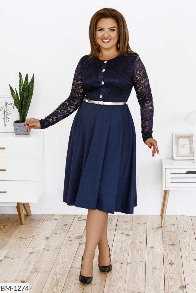 Стильное платье   (размеры 48-58) 0239-37