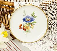 Миниатюрная фарфоровая тарелочка, блюдце для колец, розетка с цветами, Англия, Kaiser, фото 1