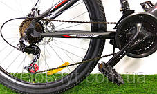"Подростковый горный велосипед Azimut Extreme 24 размер рамы 13"" GD BLACK-RED, фото 3"