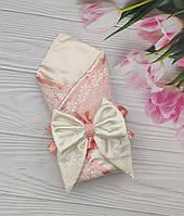 """Конверт-одеяло """"Кружево"""" для новорожденных"""