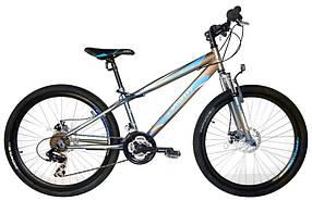 """Підлітковий гірський велосипед Azimut Extreme 24 розмір рами 13"""" GD GREY"""