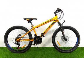 """Підлітковий гірський велосипед Azimut Extreme 24 розмір рами 13"""" GD ORANGE"""