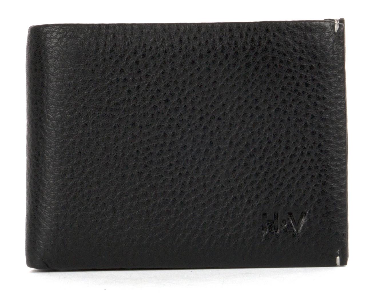 Мужской кожаный прочный стильный кошелек зажим H.Verde art. A071