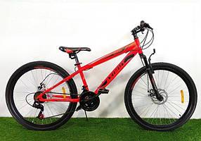 """Підлітковий гірський велосипед Azimut Extreme 24 розмір рами 13"""" GD RED"""