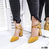 Туфли из натуральной кожи горчица, фото 2