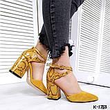 Туфли из натуральной кожи горчица, фото 5