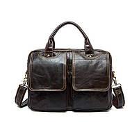 Чоловічий шкіряний портфель Marrant | темно коричневий, фото 1