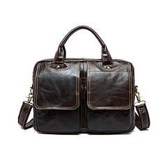 Чоловічий шкіряний портфель Marrant   темно коричневий