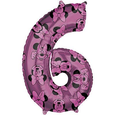 A  Цифра Минни маус розовая.В УП