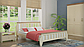 Кровать деревянная Марсель 180х200 Mebigrand сосна белая, фото 6