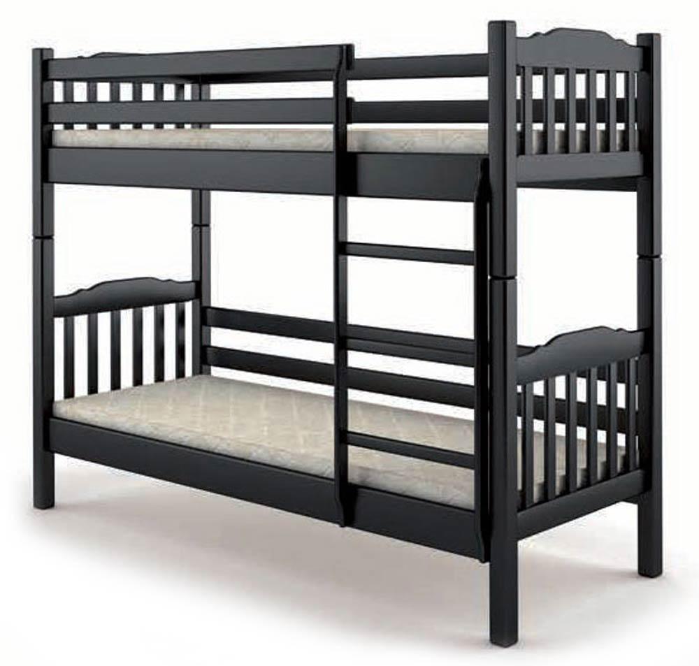 Кровать деревянная двухъярусная 90х200 Бай-бай Mebigrand сосна венге