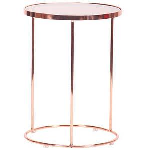 Стол журнальный Kalibri, rose gold, glass top