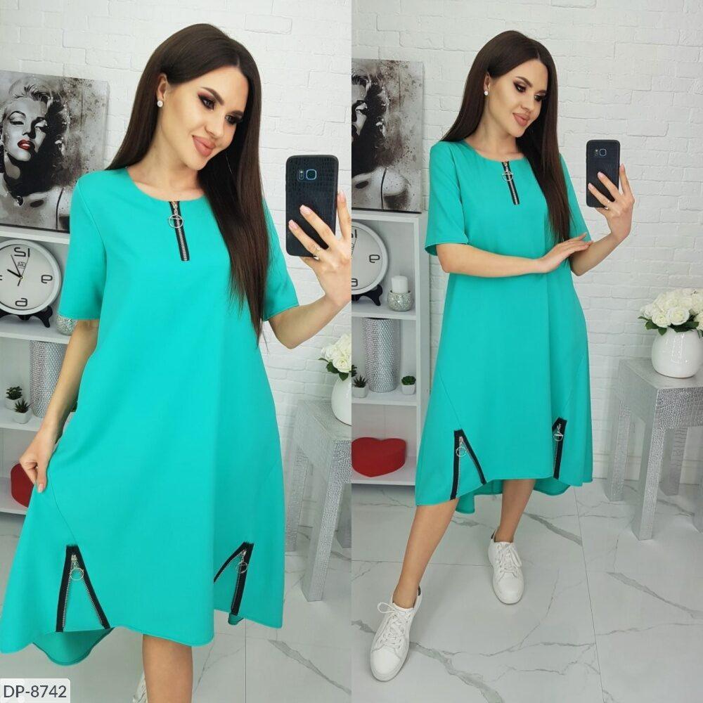 Стильное платье   (размеры 50-64) 0239-66