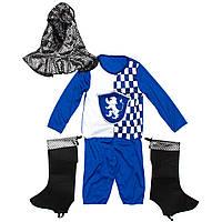 Костюм детский карнавальный рыцарь, рост 110-120 см, синий (091032B)