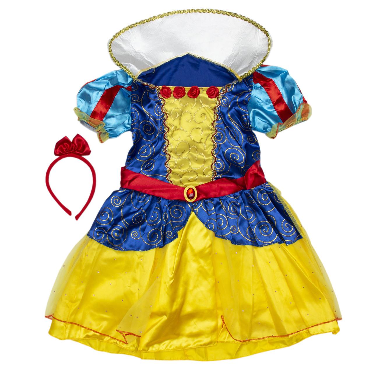 Костюм детский карнавальный белоснежка, рост 110-120 см, желтый (091052B)