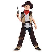 Костюм детский карнавальный ковбой, рост 92-104 см, черный (091037A), фото 1