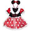 Костюм детский карнавальный мышки для девочки, рост 92-104 см, красный в белый горох (091047A), фото 2