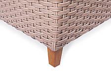 Угловой диван Порту трехместный (195х77х91) искусственный ротанг, фото 3