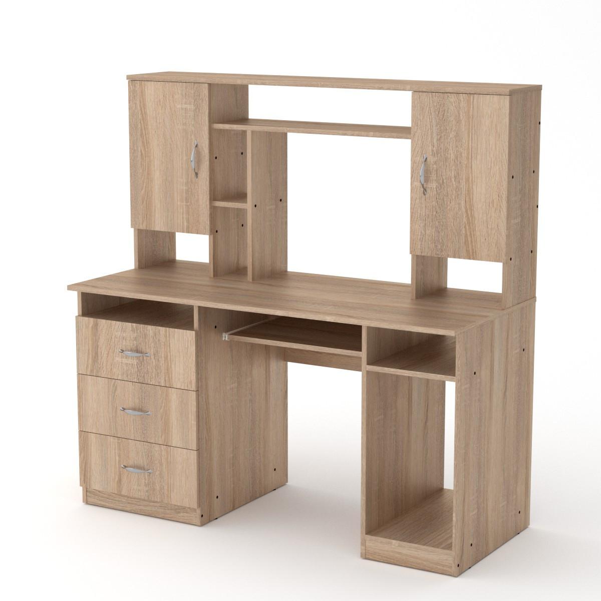 Стол компьютерный менеджер дуб сонома Компанит (140х60х142 см)