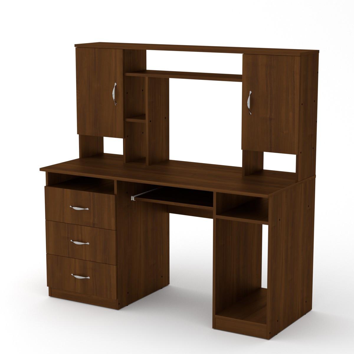 Стол компьютерный менеджер орех экко Компанит (140х60х142 см)
