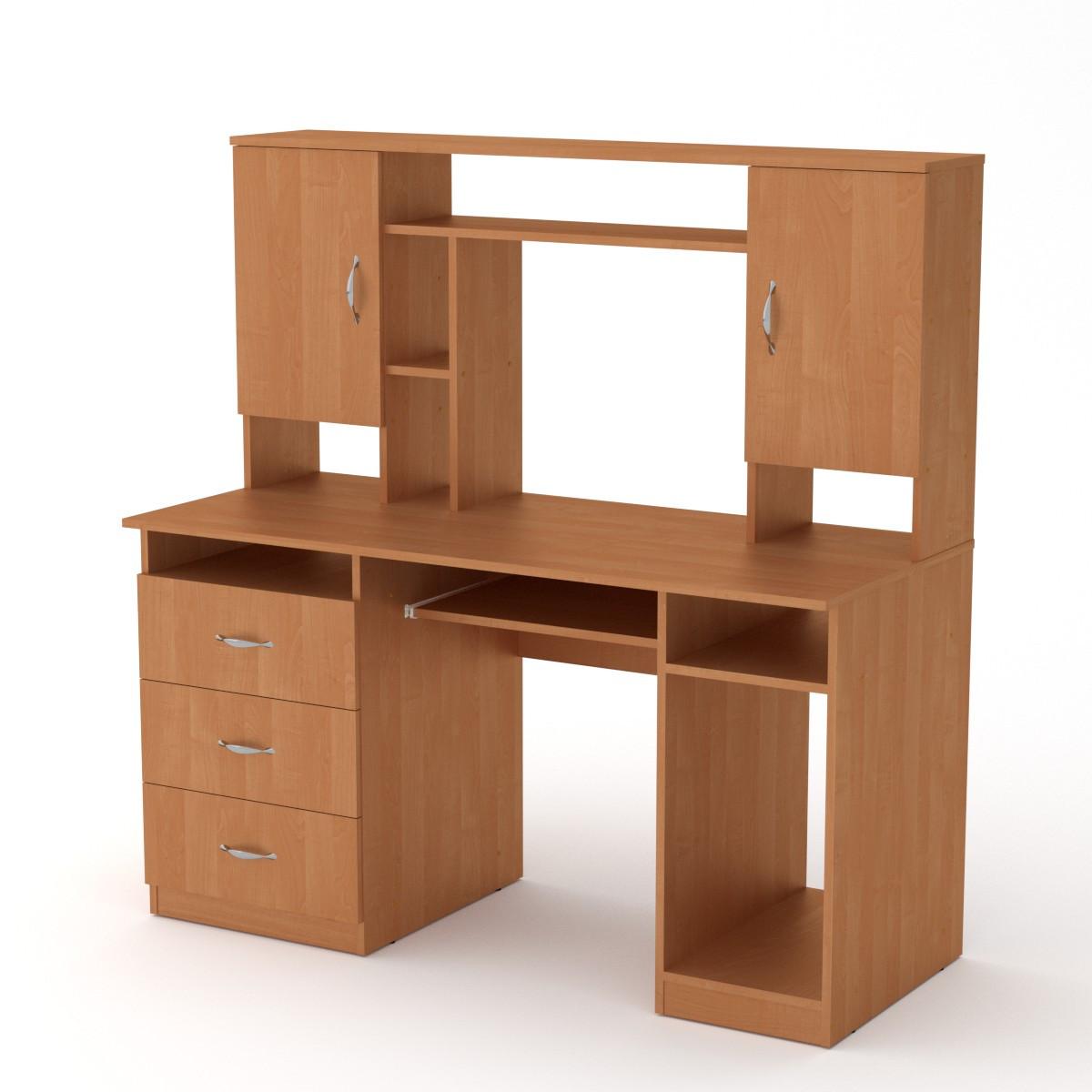 Стол компьютерный менеджер ольха Компанит (140х60х142 см)