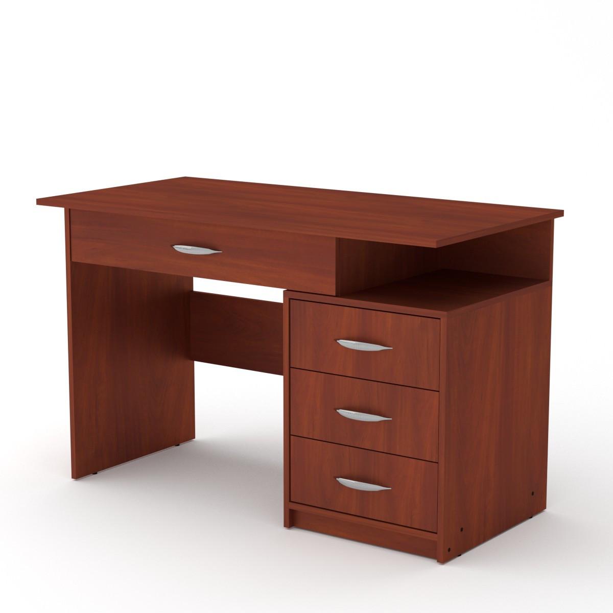 Стол письменный Студент-2 яблоня Компанит (120х60х75 см)