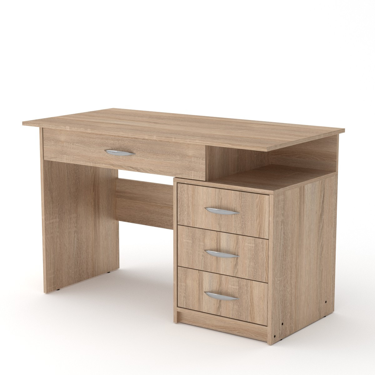Стол письменный Студент-2 дуб сонома Компанит (120х60х75 см)
