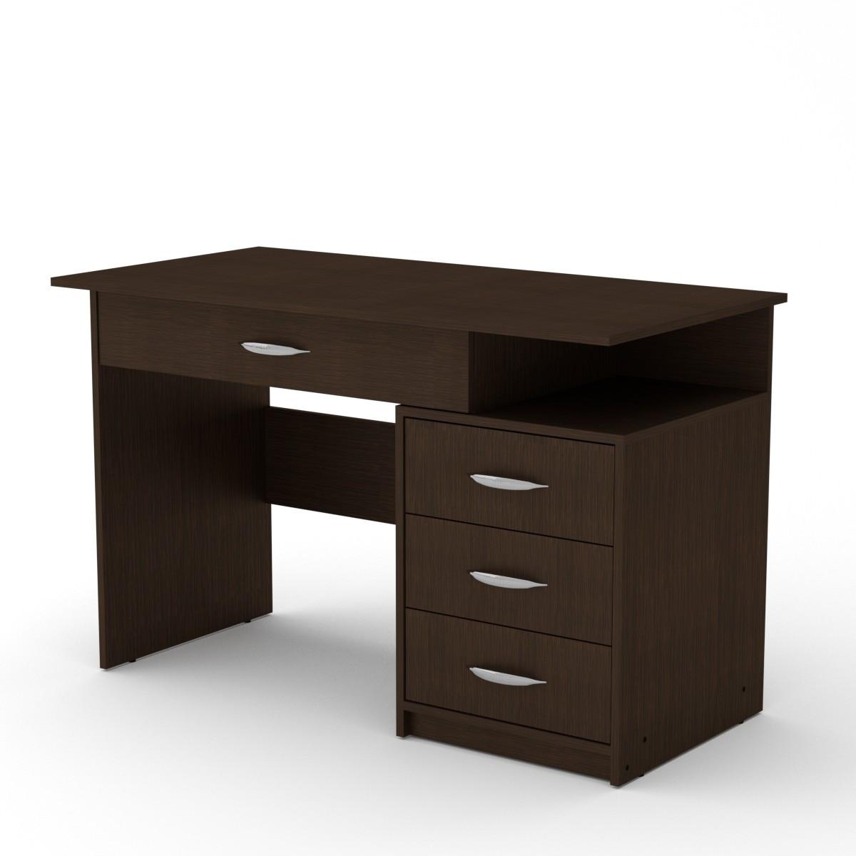 Стол письменный студент-2 венге темный Компанит (120х60х75 см)