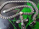 Срібна цепочка з хрестиком, фото 2