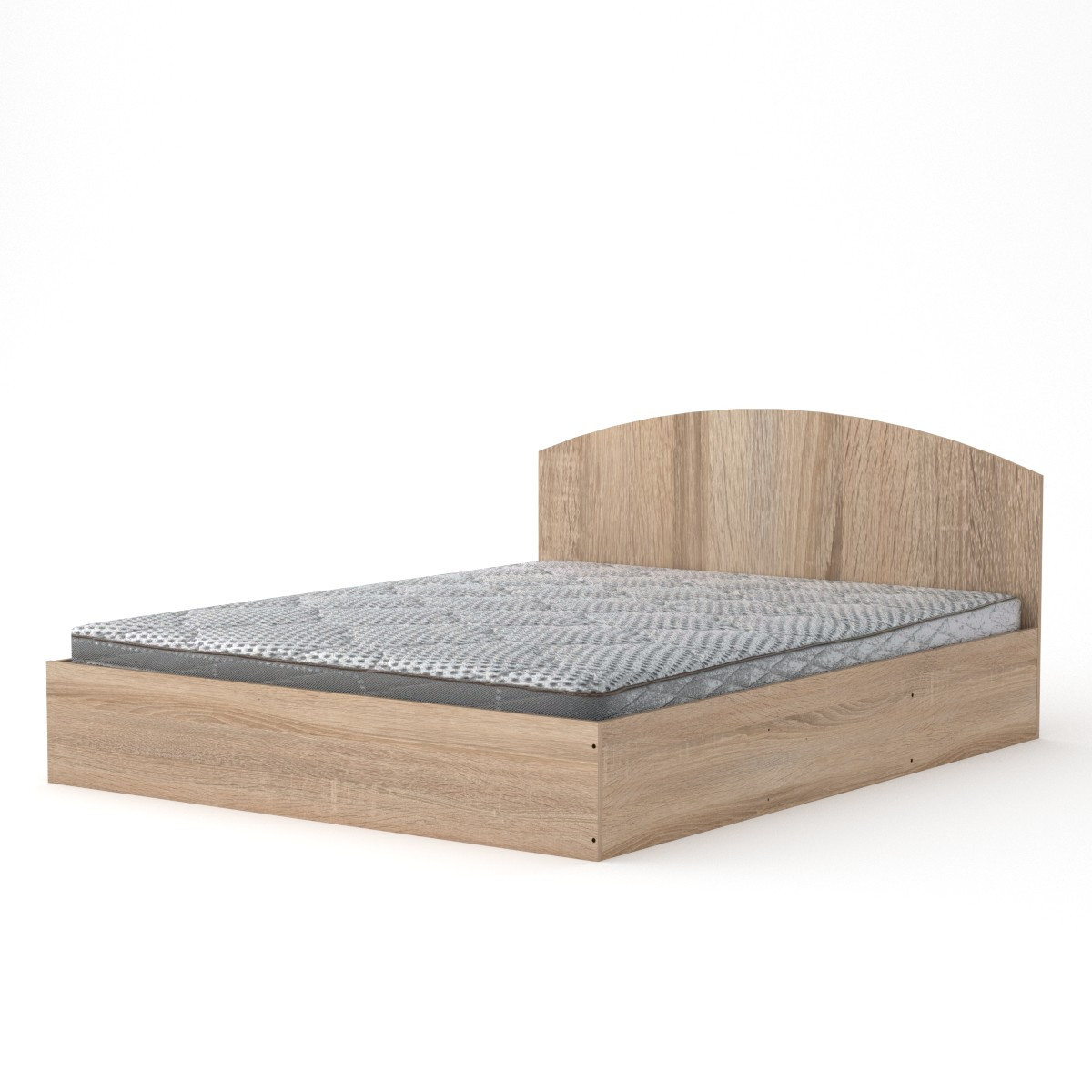Кровать с матрасом 140 дуб сонома Компанит (144х202х75 см)